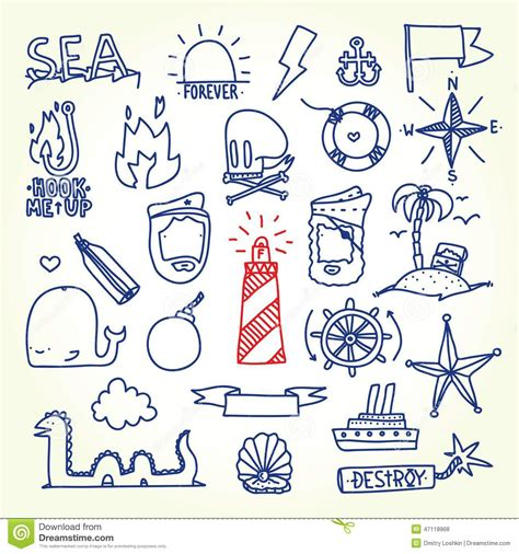 hand drawn old tattoo vector objects stock vector