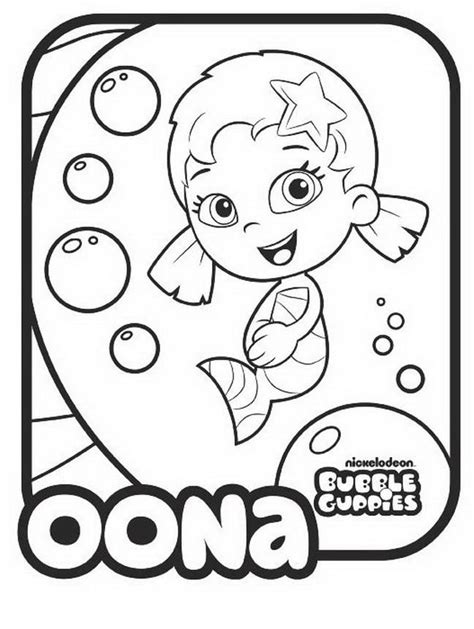 bubble guppies molly coloring pages az coloring pages