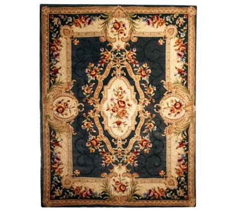 qvc royal palace rugs royal palace 7 x 9 heritage medallion handmade rug h196138 qvc