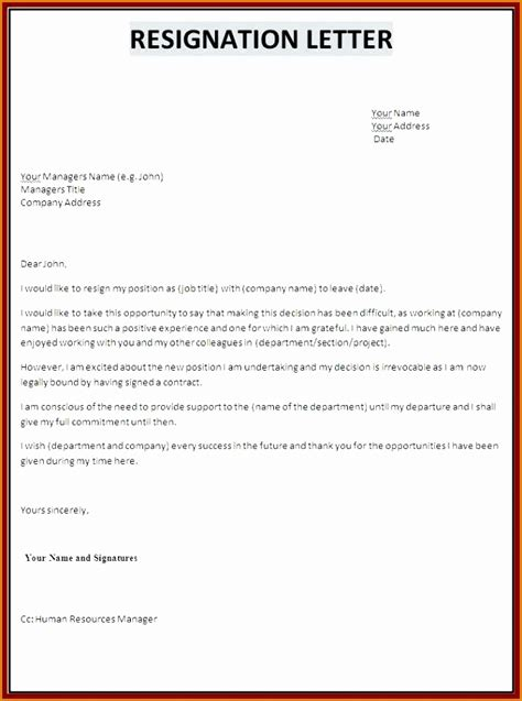 microsoft office resignation letter template awesome microsoft office resignation letter template