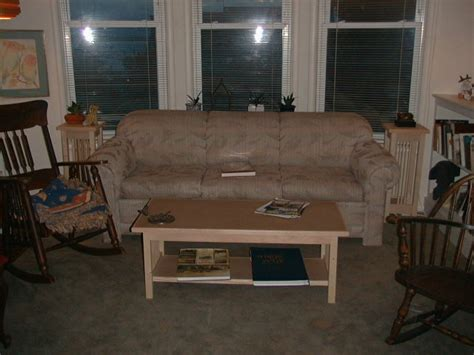 table behind couch called more mission style tables
