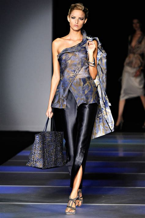 Catwalk To Carpet In Giorgio Armani by Andrea Janke Finest Accessories Aqua And Mineral Blue By