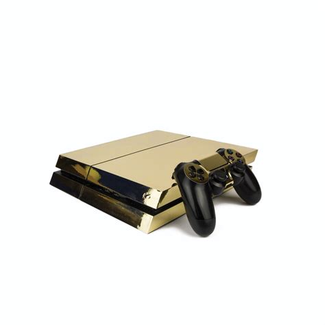 Ps4 Sticker Gold by Ps4 Playstation 4 Metallic Vinyl Wrap Chrome Gold
