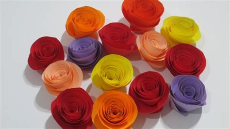 How To Make Rolled Paper - how to make rolled paper roses easy tutorial at