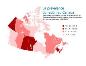 radon map canada connaissance du radon au canada