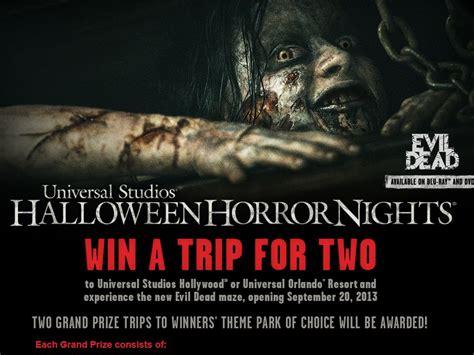 Universal Studios Sweepstakes - universal studios halloween horror nights evil dead sweepstakes