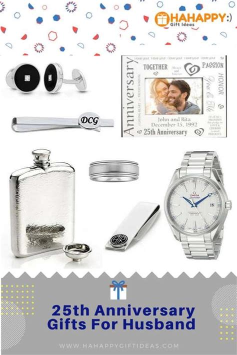 Wedding Anniversary Gift For A Husband by 25th Silver Wedding Anniversary Gifts For Husband