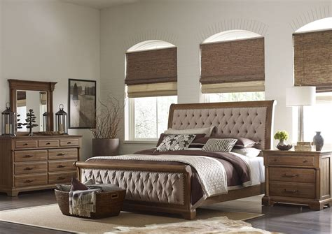 stone bedroom furniture stone ridge sleigh bedroom set from kincaid 72 150p