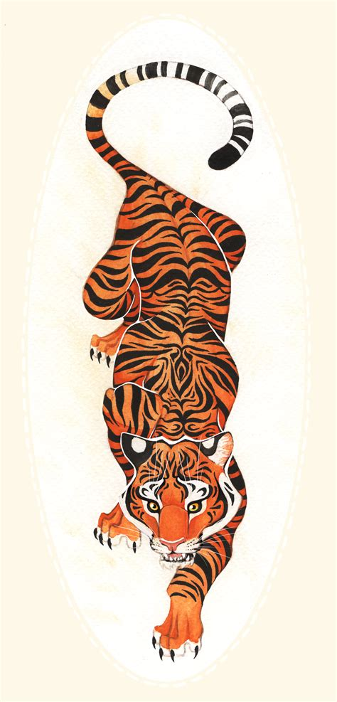 tiger back tattoo designs crawling tiger tiger design by tatooine