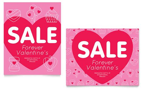 valentines cards for size bar template s day sale poster template design
