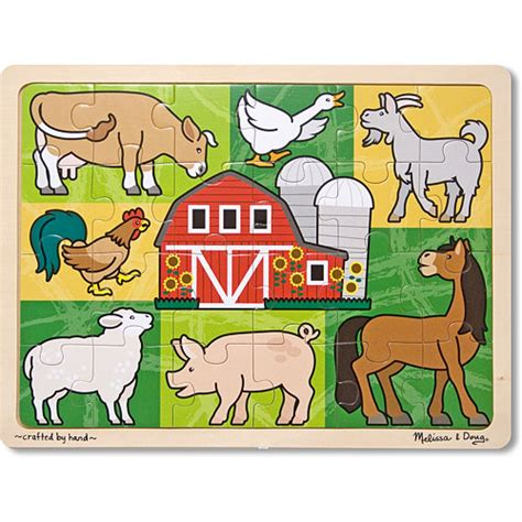 Patchwork Farm - patchwork farm animal jigsaw 24pc 4 books toys