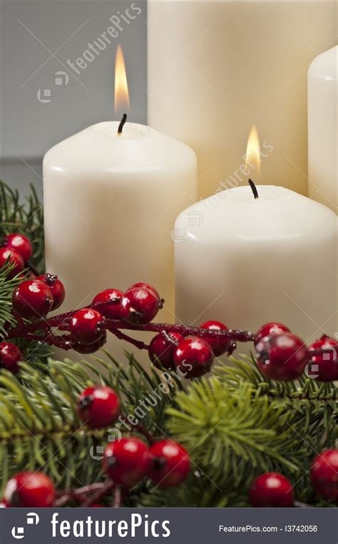 christmas candles  wreath photo