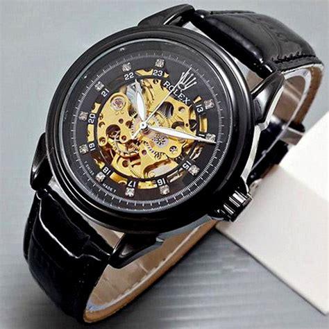 Jam Tangan Rolex Kulit jam tangan kulit rolex skelton indotechno