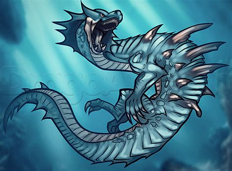 how to the how to draw lagiacrus from the step by step characters