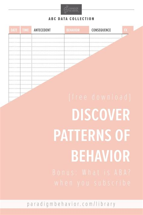 pattern of behavior exles 221 best images about education on pinterest autism