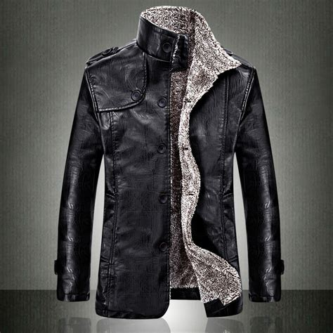 european fashion mens vintage thickening pu leather jacket