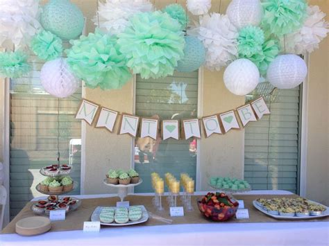 bridal shower table decoration ideas 25 best ideas about mint table on mint rustic