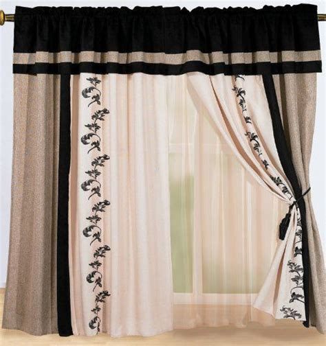 black and cream drapes these may be my new kitchen curtains luxury black cream