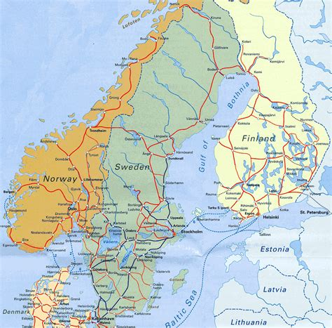scandinavia map maps of baltic and scandinavia detailed political relief road and other maps of baltic