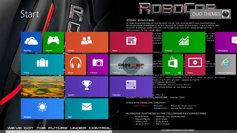 themes for windows 7 to windows 8 robocop 2013 theme for windows 7 or 8 ouo themes