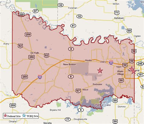 bowie county texas map superfund in bowie county tceq www tceq texas gov