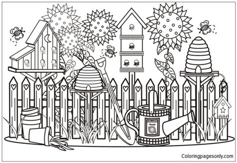 beautiful garden coloring page beautiful garden 1 coloring page free coloring pages online