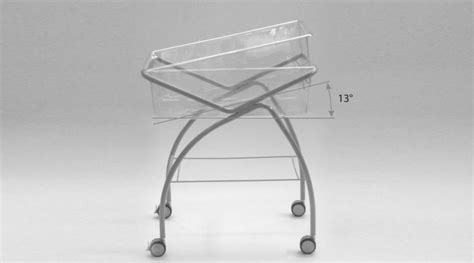 posizione neonato culla culla altezza fissa su ruote con trendelenburg in culle