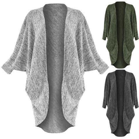 Setelan Dress Maxi Cardi Quality marl knit cocoon batwing cardigan womens open front maxi cardi top ebay