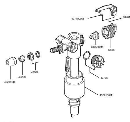 Membrane Robinet Flotteur by Grohe 43733000 Ou 4375800m Membrane Pour Robinet Flotteur
