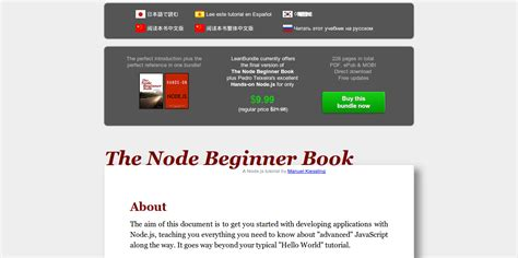 Node Js Tutorial Book | the node beginner book a comprehensive node js tutorial