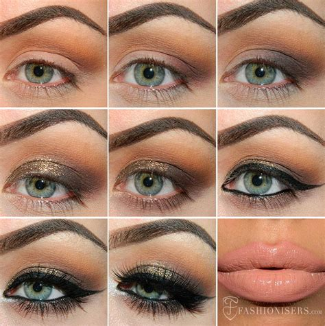 tutorial eyeshadow glitter gold glitter eye makeup tutorial www pixshark com