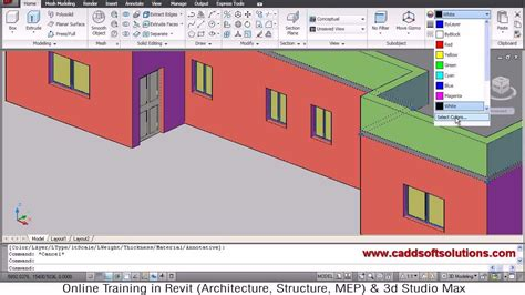 Autocad 3d House Modeling Tutorial 3 3d Home 3d Autocad 3d House Plans