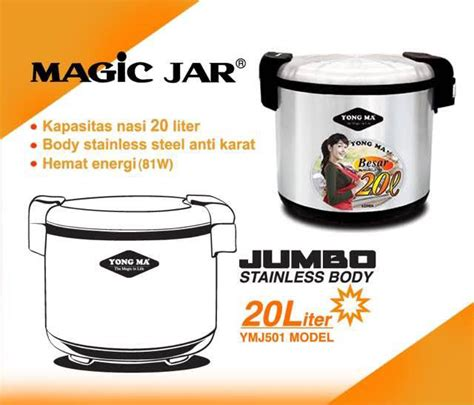 Magic Jar Yong Ma Ymj 8800 Ymj 401 Penghangat Nasi yong ma ymj 501 magic jar yongmasale