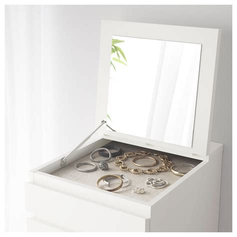 ikea malm kopfteil 180 malm chest of 6 drawers white mirror glass 40x123 cm ikea