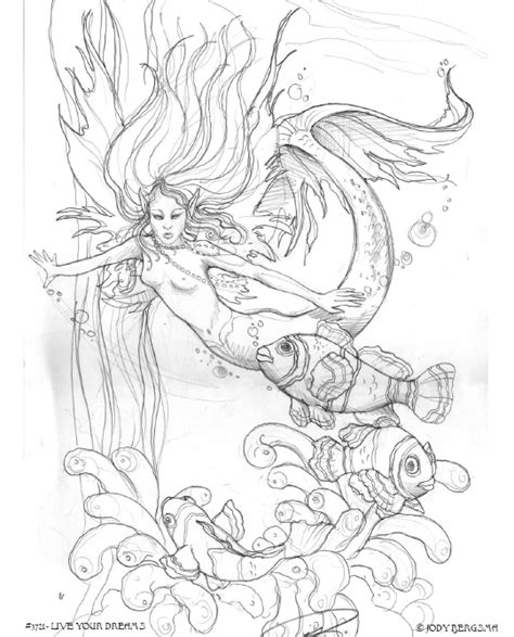 realistic angel coloring pages enchanted designs fairy mermaid blog free fairy