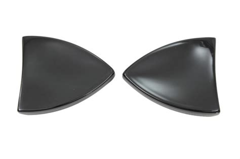 black mirror blocked v twin black mirror block off plate chips set pair for