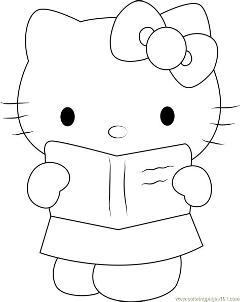 hello kitty coloring pages download hello kitty see in book coloring page free hello kitty