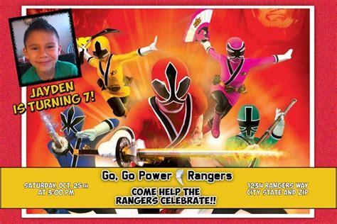 printable birthday invitations power rangers power ranger birthday invitations kid s birthday pinterest