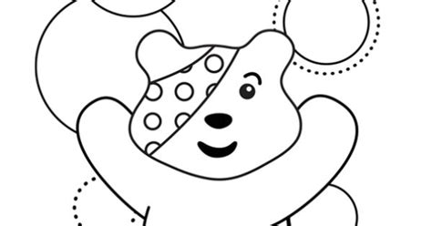 pudsey template printables pudsey colouring template children in need