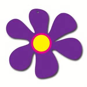 cut out sixties flower purple ea party supplies