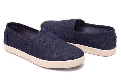 Wedges Denim Abu Telur Asin denim toms mens toms on sale