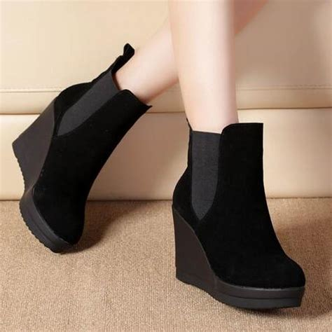 Wedges Boot Style Marun aliexpress buy ankle heel boots antumn winter style ankle boots for martin boots