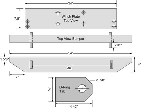 jeep bumper blueprints jeep zj winch bumper plans car interior design
