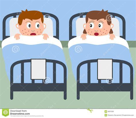 krankenhaus betten kranke kinder in den krankenhaus betten lizenzfreie