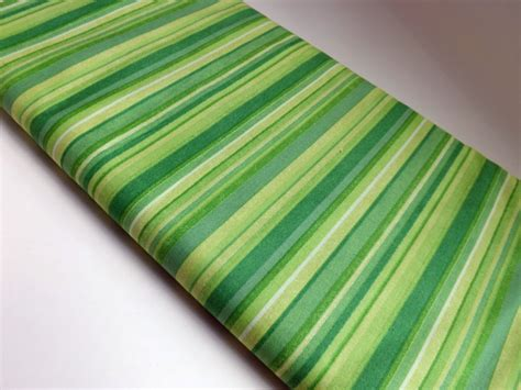 Striped Quilt Fabric by Stripes Striped Green Fabric Cotton Fabric Quilting Sewing By