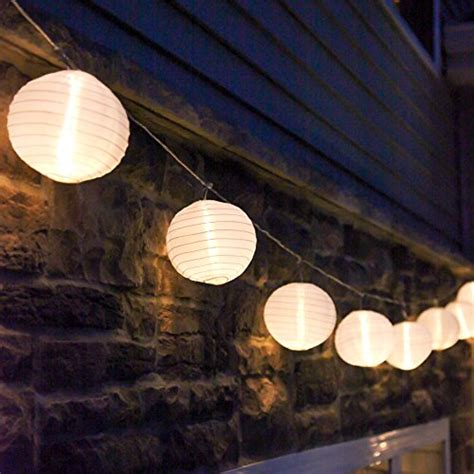 outdoor lantern string lights set of 10 white indoor outdoor mini style lantern in string festoon lights