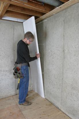 installing insulation in basement how to insulate a basement wall greenbuildingadvisor