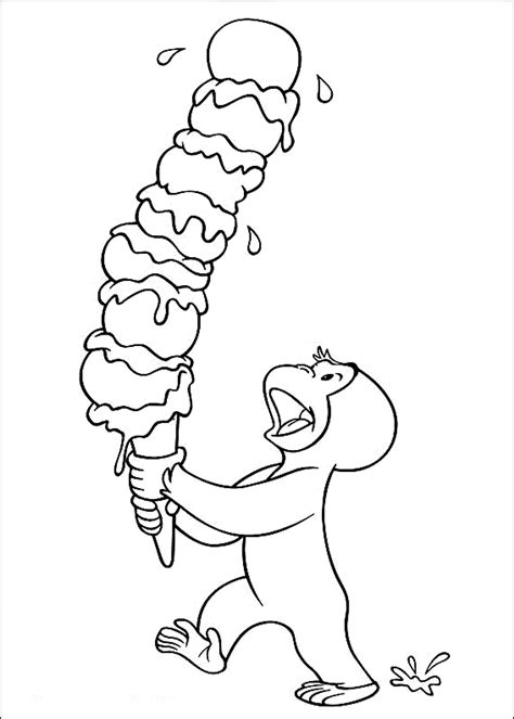 happy birthday curious george coloring pages printable curious george coloring pages bestofcoloring com