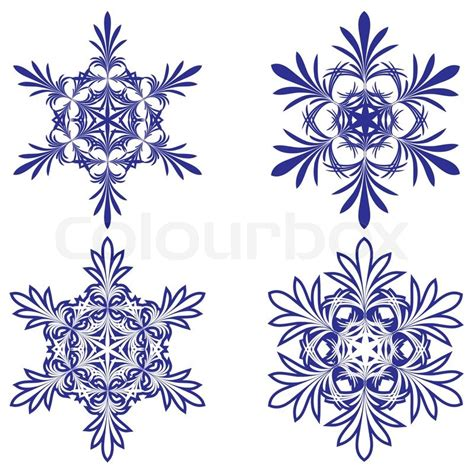 snowflakes vector illustration stock vector colourbox