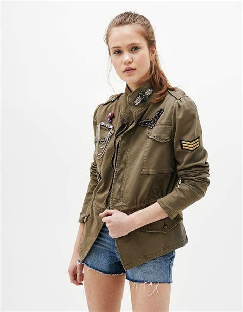 Bershka Jacket Army abrigos y chaquetas ropa mujer bershka colombia o